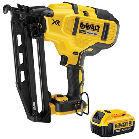DeWalt DCN660N 18V XR Brushless Fix Nailer With 4.0Ah Battery