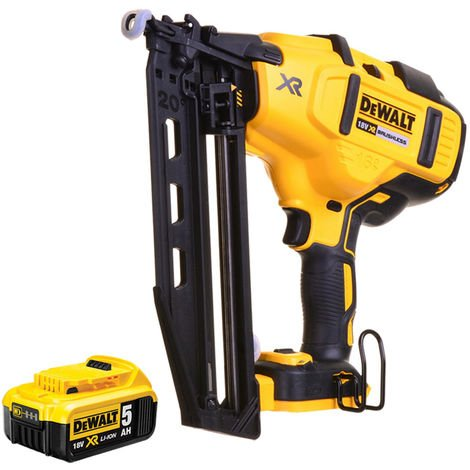DeWalt DCN660N 18V XR Brushless Second Fix Nailer with 1 x 5.0Ah Batteries