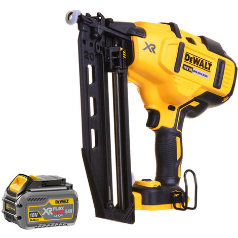 DeWalt DCN660N 18V XR Brushless Second Fix Nailer with 1 x 6.0Ah Battery