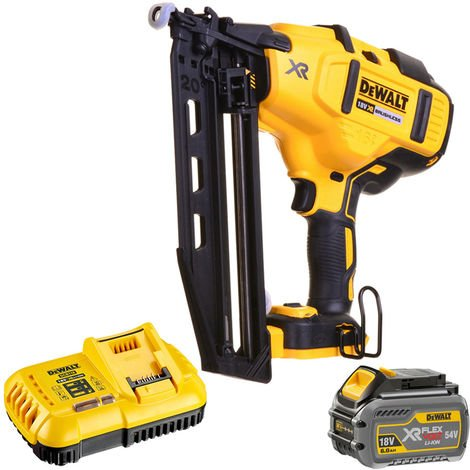 DeWalt DCN660N 18V XR Brushless Second Fix Nailer with 1 x 6.0Ah Battery & Charger