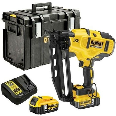 DeWalt DCN660P2 18V Brushless Nailer with 2 x 5.0Ah Batteries & Charger in Case