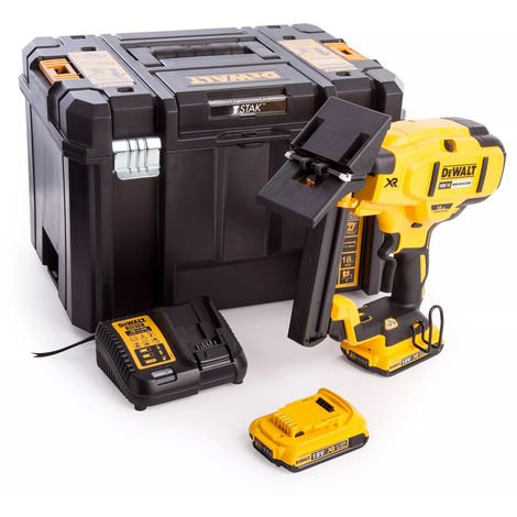 Dewalt DCN682D2 18V Brushless 18Ga Floor Stapler With 2 x 2Ah Battery & Charger In Kitbox:18V