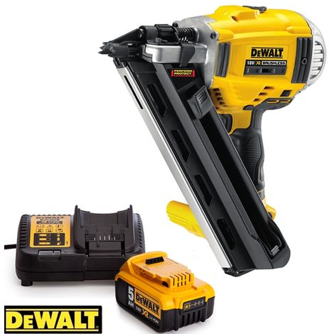 Dewalt DCN692 18V Brushless 90mm First Fix Framing Nailer With 1 x 5.0Ah Battery & Charger
