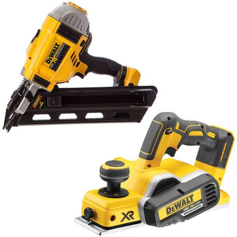 Dewalt DCN692N 18V 90mm Framing Nailer With DCP580N 18V Planer Body
