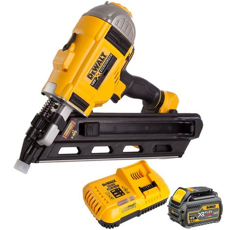 DeWalt DCN692N 18V Brushless Framing Nailer 1 x 6.0Ah Battery Charger