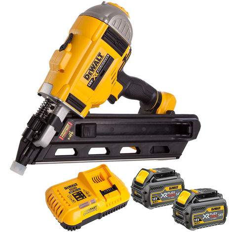 DeWalt DCN692N 18V Brushless Framing Nailer 2 x 6Ah Batteries Charger