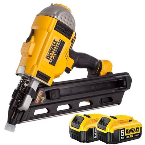 DeWalt DCN692N 18V Brushless Framing Nailer with 2 x 5.0Ah Batteries