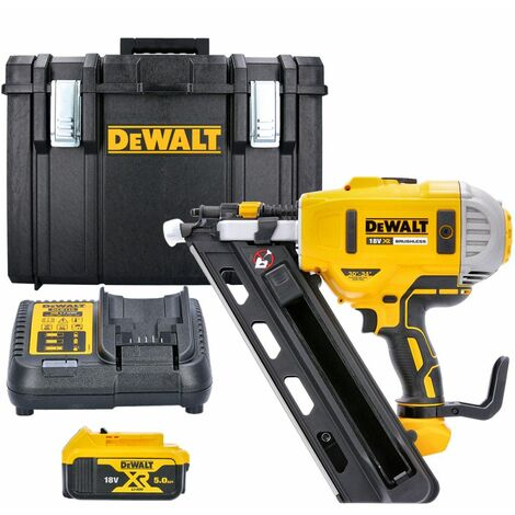 Dewalt DCN692N 18V XR Brushless 90mm First Fix Nailer With 1 x 5Ah Battery, Charger & DS400 Case