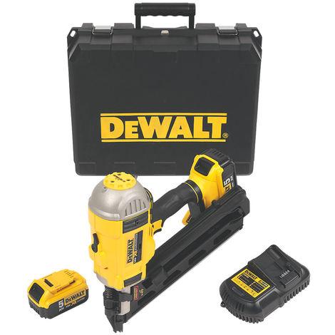 DeWalt DCN692P2 Brushless Cordless First Fix Framing Nailer Kit with 2 x 5.0Ah Batteries