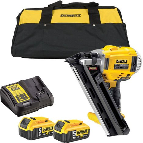 DeWalt DCN692P2B 18V XR Li-Ion Brushless Framing Nailer Nail Gun 2 x 5Ah Battery