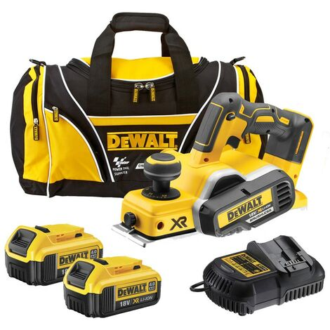 Dewalt DCP580 M2 18v XR Cordless Brushless Planer + 2 x 4.0ah Batt, Charger + Bag