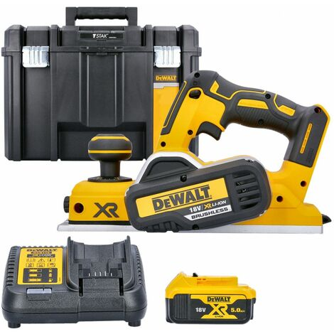 DeWalt DCP580N 18V XR Brushless Planer With 1 x 5.0Ah Battery, Charger & Case