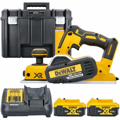 DeWalt DCP580N 18V XR Brushless Planer With 2 x 5.0Ah Batteries, Charger & Case