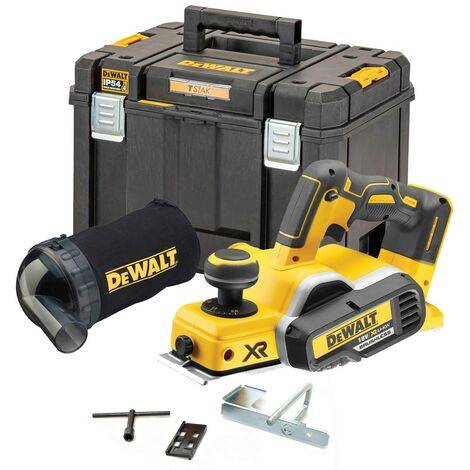 Dewalt DCP580N 18v XR Cordless Brushless Planer Bare + TSTAK 2 Case + Dust Bag