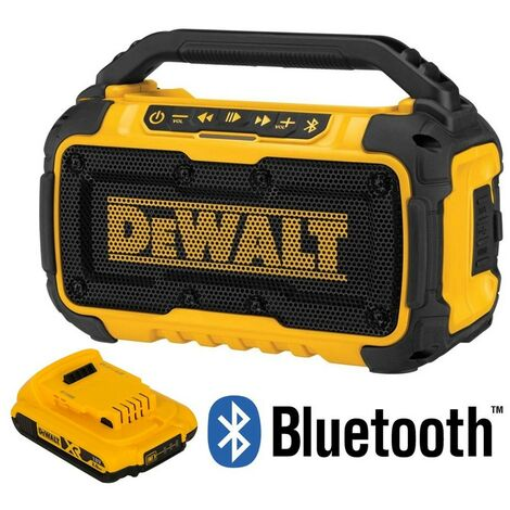 Dewalt DCR011 Bluetooth Speaker 10.8 12v 18v 54V Flexvolt / XR +1 Battery