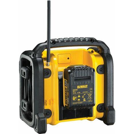 DeWalt DCR019 10.8V / 14,4V / 18V Li-Ion batería Radio - funciona con toma corriente y a batería