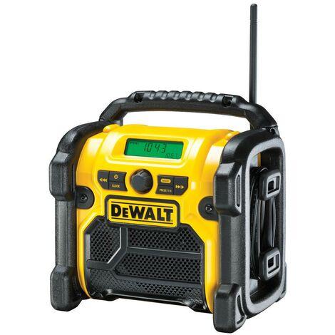 """main image of """"DeWALT DCR019 XR Compact FM AM Radio de Chantier Alimentation Secteur ou Accu"""""""