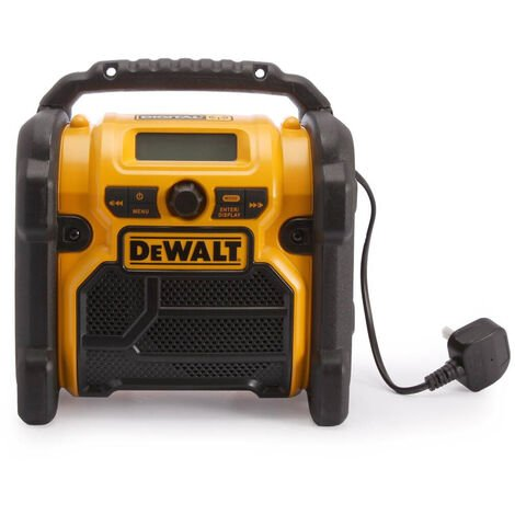 Dewalt DCR020 XR 240V Compact DAB Radio for 10.8V - 18V Batteries