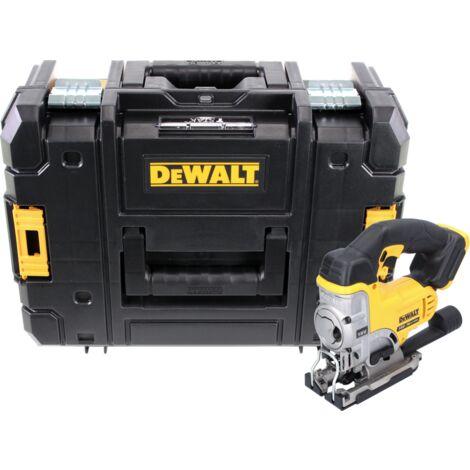 DeWalt DCS 331 NT Scie sauteuse sans fil 18V + Coffret de transport DeWALT TSTAK Box DWST1-70703 + Insert correspondant - sans Batterie, sans Chargeur