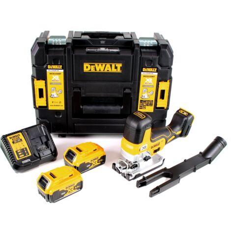 DeWalt DCS 335 P2 scie sauteuse sans fil 18V + 2x Batteries 5,0 Ah + Chargeur + Coffret TSTAK