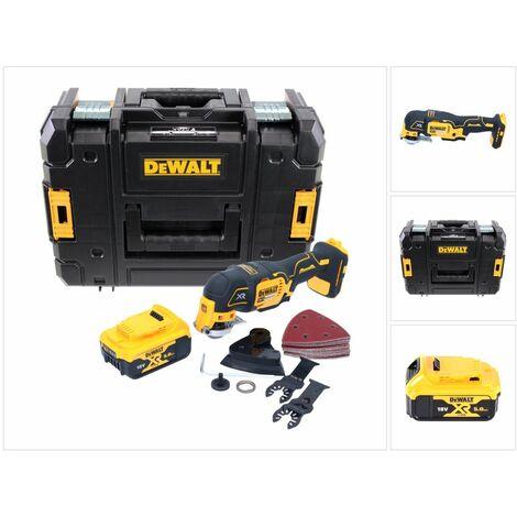 DeWalt DCS 355 18V XR Li-ion Outil oscillant multi-cutter sans fil + 29 accessoires Set + Coffret de transport TStak + 1x Batterie 5,0 Ah - sans Chargeur