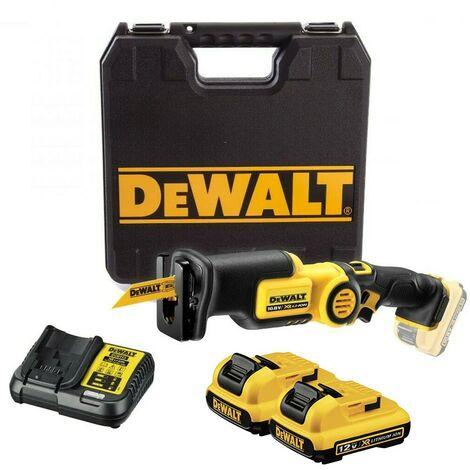 Dewalt DCS310D2 12v Pivot Reciprocating Sabre Saw Lithium - 2x2.0ah Batteries