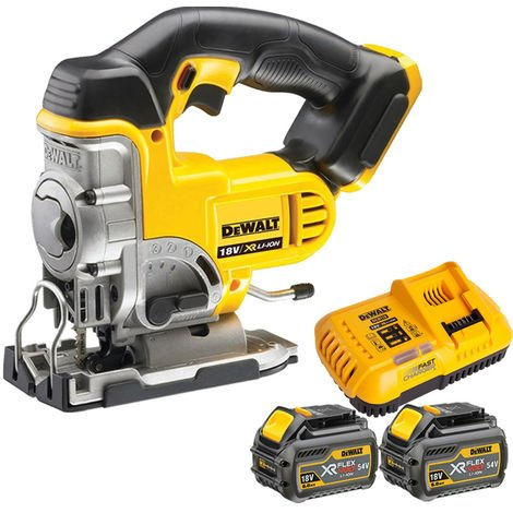 Dewalt DCS331N 18V Cordless Jigsaw With 2 x 6.0Ah Batteries & Charger