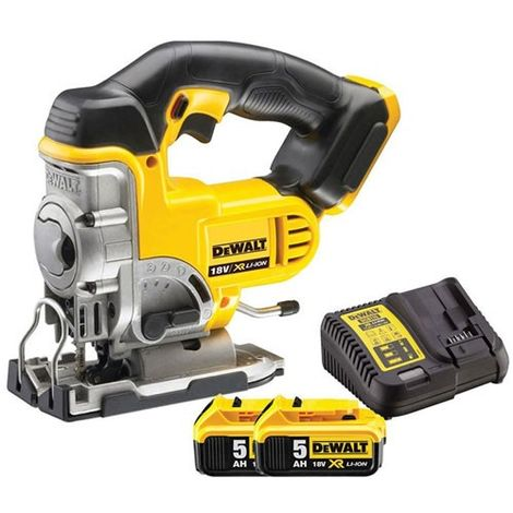 Dewalt DCS331N 18V XR Cordless Jigsaw with 2 x 5.0Ah Batteries & Charger