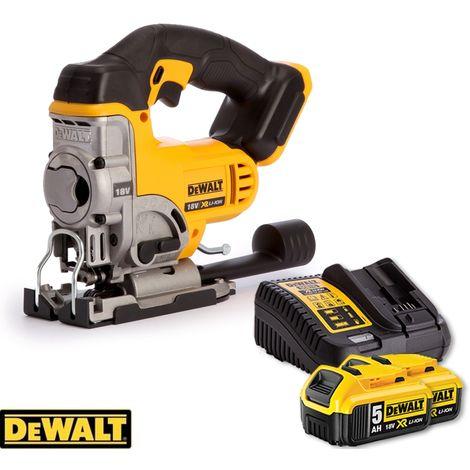 Dewalt DCS331N Cordless 18V XR Li-Ion Jigsaw With 2 x 5.0Ah Batteries & Charger