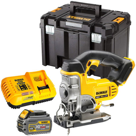 Dewalt DCS331T1 18V XR Cordless Jigsaw with 1 x 6.0Ah Battery & Charger in TSTAK
