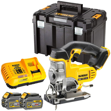 Dewalt DCS331T2 18V XR Cordless Jigsaw with 2 x 6.0Ah Batteries & Charger in TSTAK