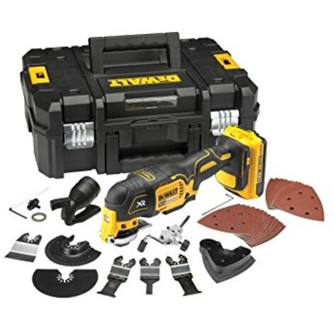 DeWalt DCS355D1 18V XR Brushless Multi-Tool with 35pc Accessory Kit, 1 x 2.0Ah Battery and Case