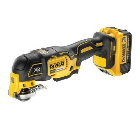 DeWalt DCS355M1-GB XR Brushless Oscillating Tool 18 Volt 1 x 4.0Ah Li-Ion