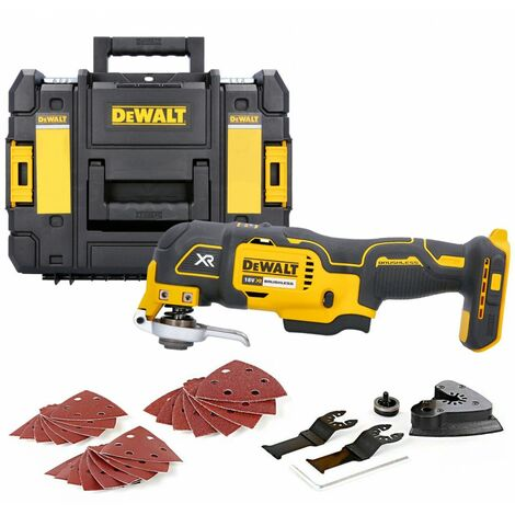 Dewalt DCS355N 18V Brushless Oscillating Multi-Tool With Accessories & T-Stack Box