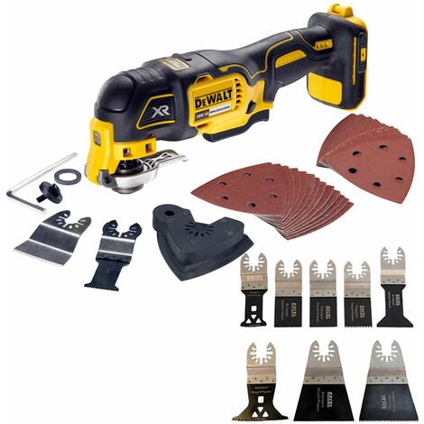 Dewalt DCS355N 18V Oscillating Brushless Multitool With 8 Piece Accessories Set