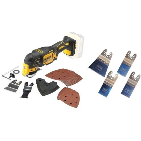 DeWalt DCS355N 18V XR Brushless Multi-Tool with 29pc Accessory Set & Smart H4MAK Blade Set