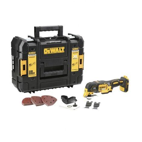 DeWalt DCS355NT Multi-outil à batteries 18V Li-Ion (machine seule) + Set d'accessoires 29 pièces dans TSTAK - moteur sans charbon