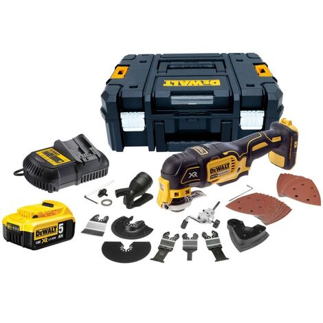 DeWalt DCS355P1 18V XR Brushless Multi-Tool with 35pc Accessory Kit, 1 x 5.0Ah Battery and Case