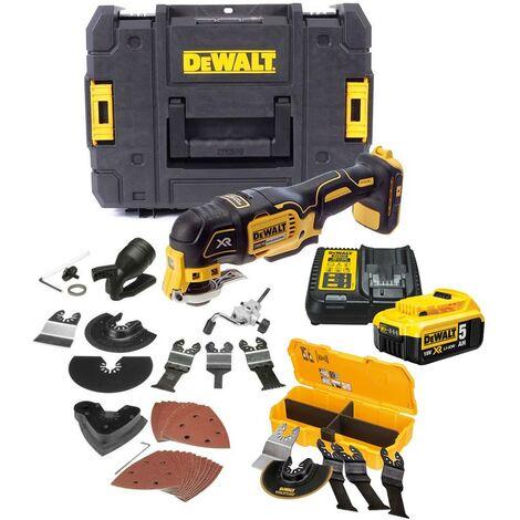 Dewalt DCS355P1 18v XR Brushless Oscillating Multi Tool + 40 Accessory Kit 5.0AH