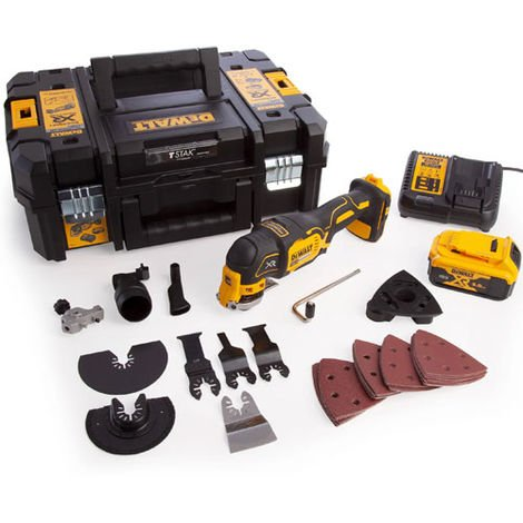Dewalt DCS355P1 XR 18V Brushless Oscillating Multi-Tool With 1 x 5.0Ah Batteries Charger In Kitbox:18V