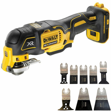Dewalt DCS356N 18V Brushless Oscillating Multi-Tool with 8 Piece Accessories Set