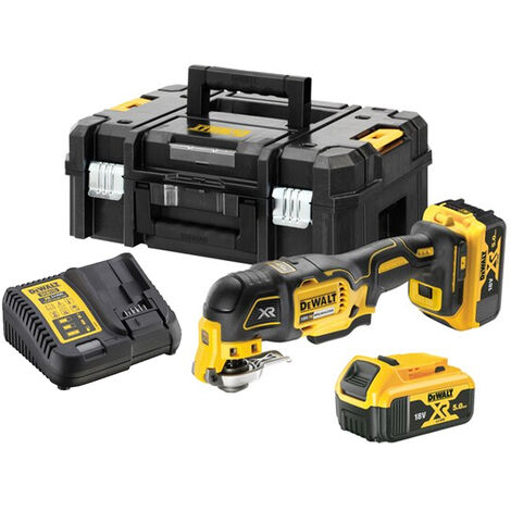 Dewalt DCS356P2 18V XR Brushless Oscillating Multi-Tool With 2 x 5.0Ah Batteries Charger