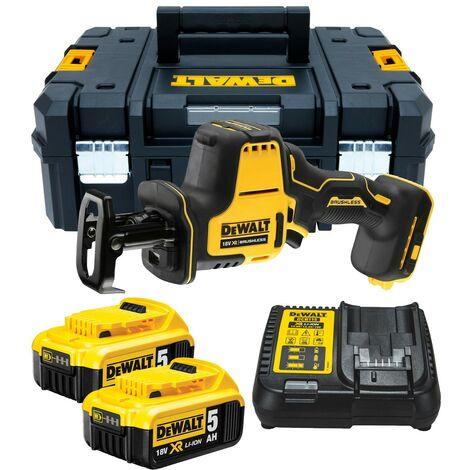 Dewalt DCS369P2 18v XR Sub Compact Brushless Reciprocating Saw - 2x5.0ah Batt