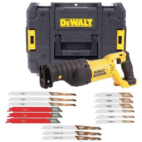 Dewalt DCS380N 18v XR Reciprocating Saw Li-ion Recip Sabre Saw +Tstak +15 Blades