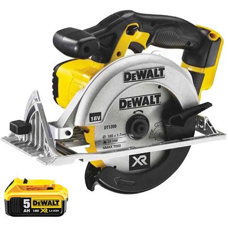 Dewalt DCS391N 18V 165mm XR Circular Saw With 1 x 5Ah Battery:18V