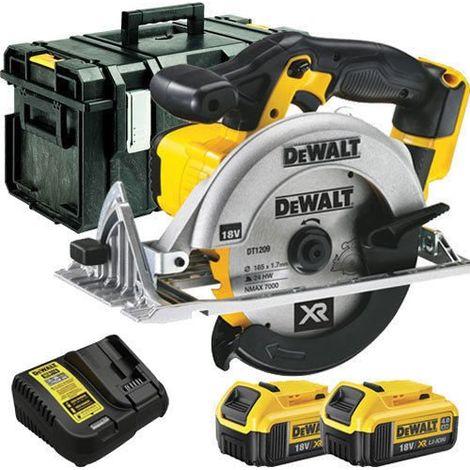 Dewalt DCS391N 18V Circular Saw + 2 x 4.0ah Batteries & Charger & Box