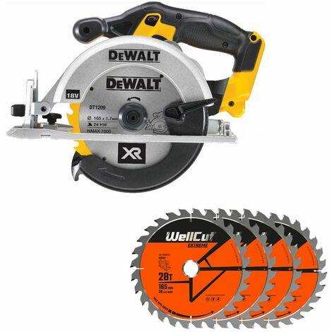 DeWalt DCS391N 18V XR li-ion Circular Saw 165mm With 4 Extra 28 Teeth Wood Blades