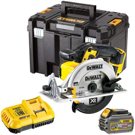 """main image of """"Dewalt DCS391T1 18V 165mm Circular Saw with 1 x 6.0Ah Battery & Charger in TSTAK"""""""
