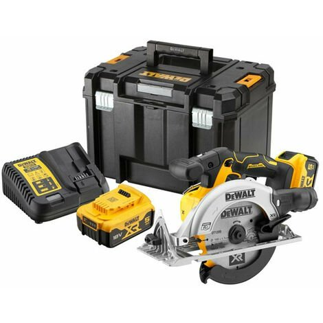 DeWalt DCS565P2 18V XR 165mm Brushless Circular Saw with 2x 5.0Ah Batteries