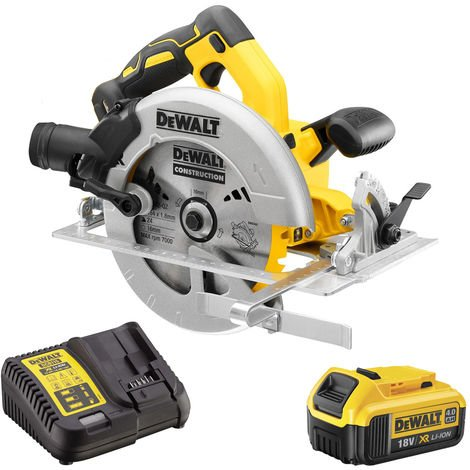 DeWalt DCS570N 18V 184mm Brushless Circular Saw with 1 x 4.0Ah Battery & Charger:18V